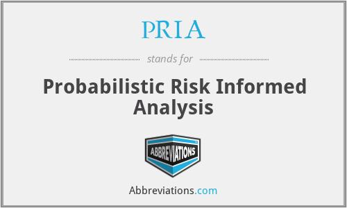 PRIA - Probabilistic Risk Informed Analysis
