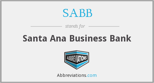 SABB - Santa Ana Business Bank