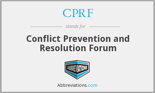 CPRF - Conflict Prevention and Resolution Forum