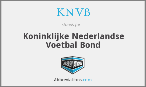 What does KNVB stand for?