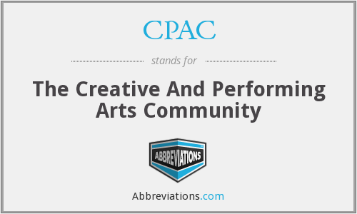 CPAC - The Creative And Performing Arts Community