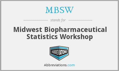What does MBSW stand for?