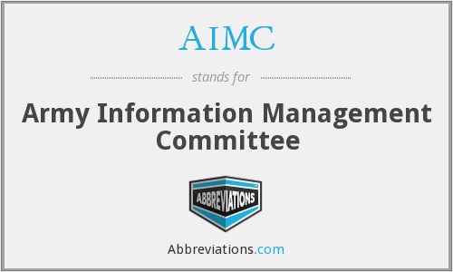 AIMC - Army Information Management Committee