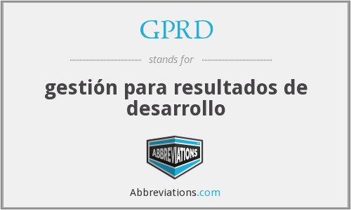What does GPRD stand for?