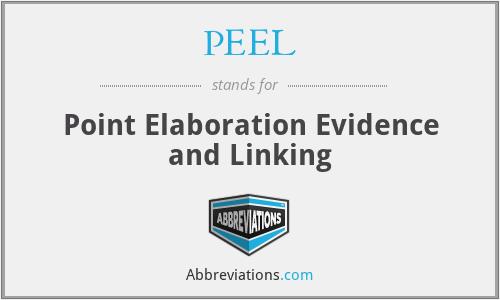 PEEL - Point Elaboration Evidence and Linking