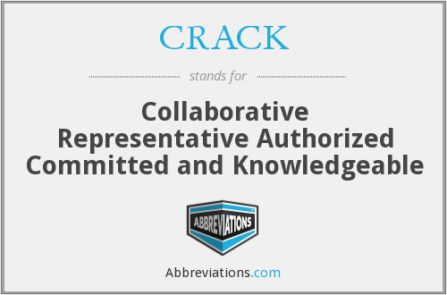 CRACK - Collaborative Representative Authorized Committed and Knowledgeable