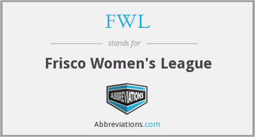 FWL - Frisco Women's League
