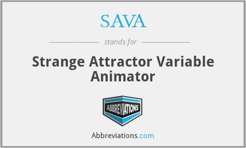 SAVA - Strange Attractor Variable Animator