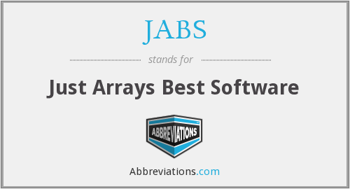JABS - Just Arrays Best Software