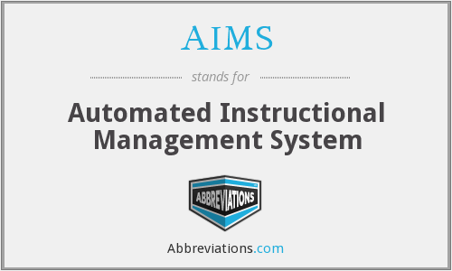 AIMS - Automated Instructional Management System