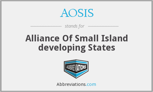 AOSIS - Alliance Of Small Island developing States