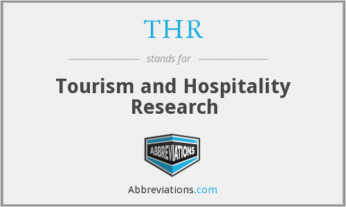 THR - Tourism and Hospitality Research
