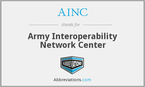 What does AINC stand for?