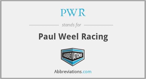 PWR - Paul Weel Racing