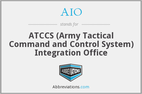 AIO - ATCCS Integration Office