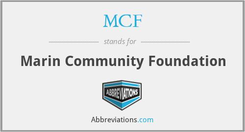 MCF - Marin Community Foundation