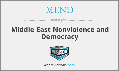 MEND - Middle East Nonviolence and Democracy