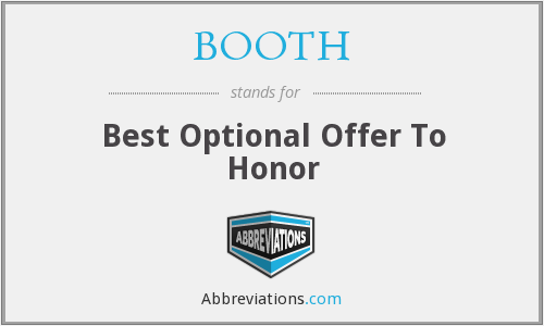BOOTH - Best Optional Offer To Honor