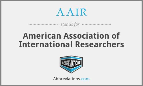 AAIR - American Association of International Researchers