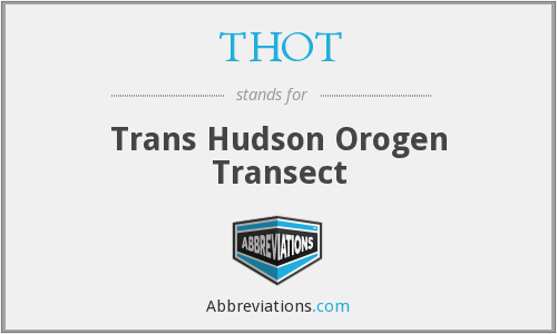 What is the abbreviation for Trans Hudson Orogen Transect?