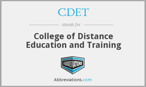 What does CDET stand for?