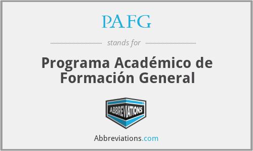 PAFG - Programa Académico de Formación General