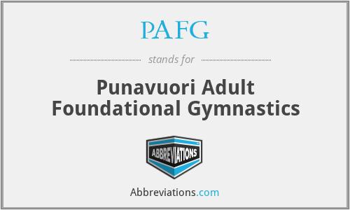PAFG - Punavuori Adult Foundational Gymnastics
