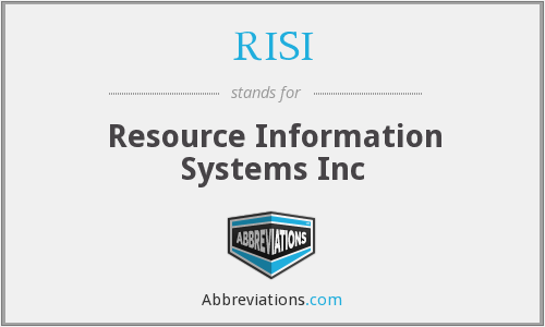 What does RISI stand for?