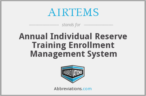 AIRTEMS - Annual Individual Reserve Training Enrollment Management System