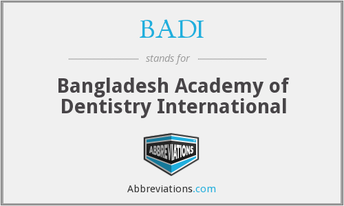 What does BADI stand for?