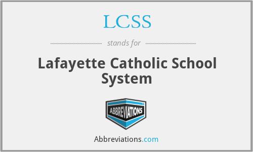 LCSS - Lafayette Catholic School System