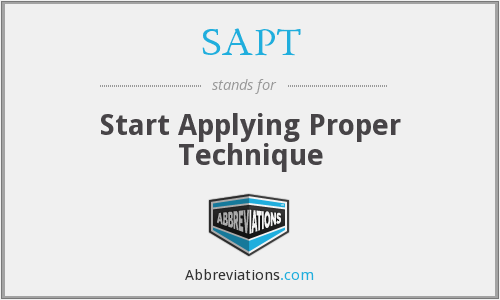 What does SAPT stand for?