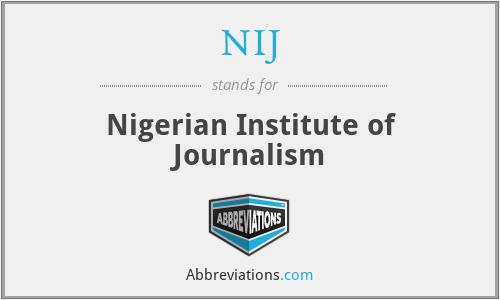 NIJ - Nigerian Institute of Journalism