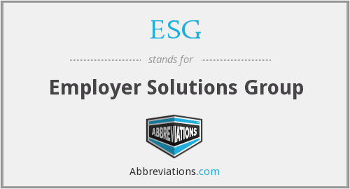 ESG - Employer Solutions Group