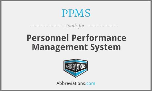 PPMS - Personnel Performance Management System