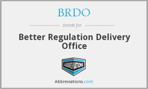 What does BRDO stand for?