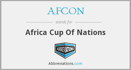 What does AFCON stand for?