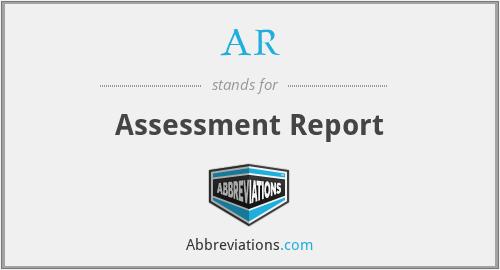 AR - Assessment Report