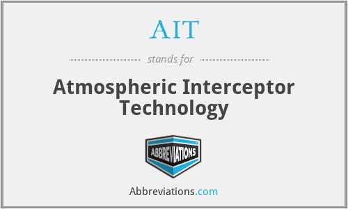 AIT - Atmospheric Interceptor Technology