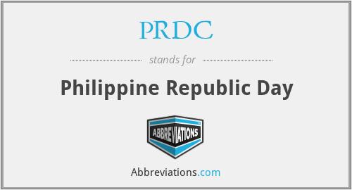 PRDC - Philippine Republic Day