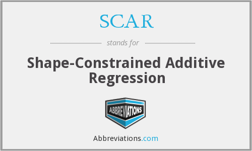 SCAR - Shape-Constrained Additive Regression