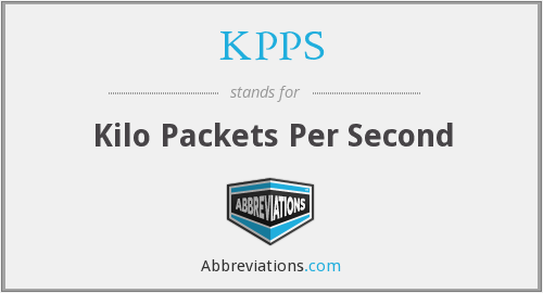 KPPS - Kilo Packets Per Second