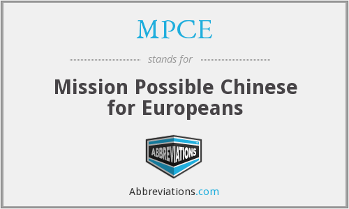 MPCE - Mission Possible Chinese for Europeans