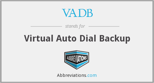 What does VADB stand for?