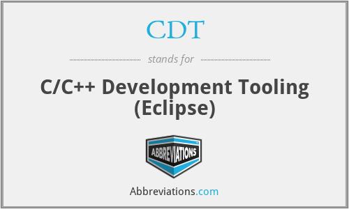 CDT - C/C++ Development Tooling (Eclipse)
