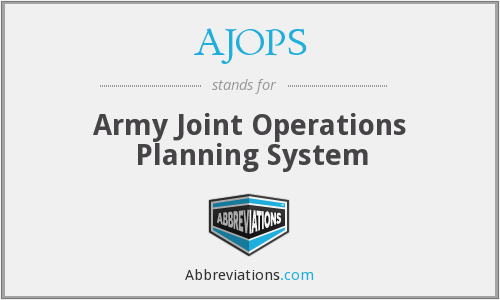 AJOPS - Army Joint Operations Planning System