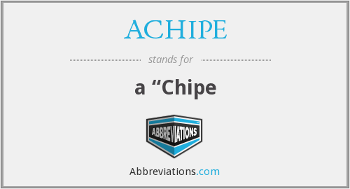 What does ACHIPE stand for?