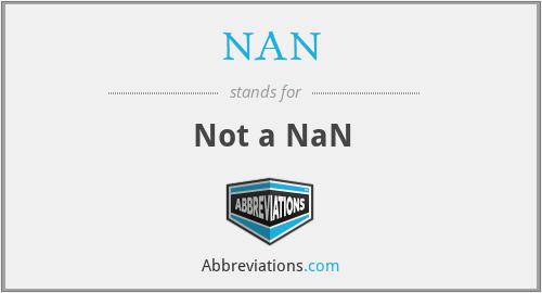 NAN - Not a NaN