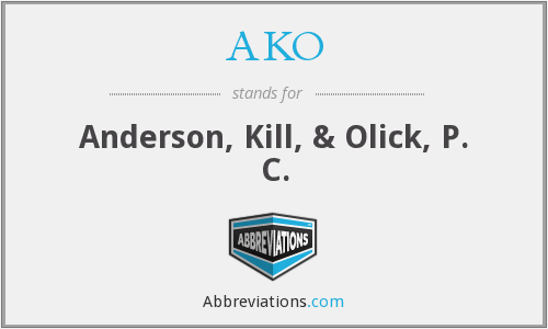 What does AKO stand for?