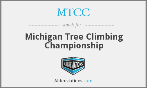 MTCC - Michigan Tree Climbing Championship